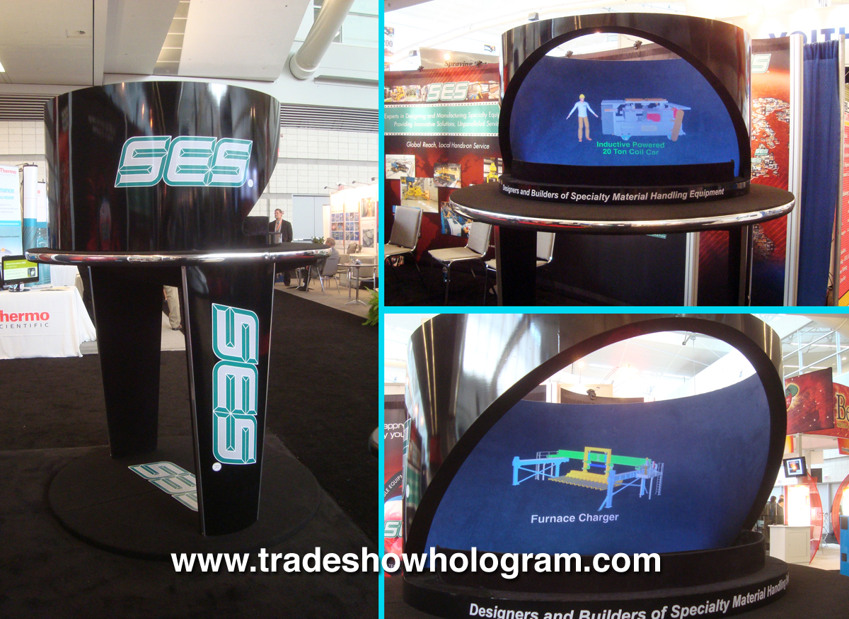 3D Holographic Projection exhibited at trade show.