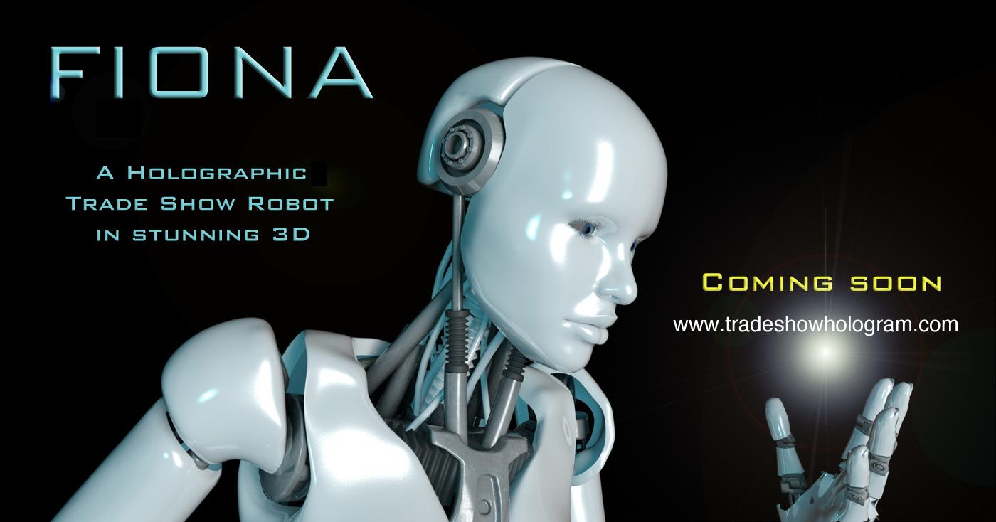 Fiona 3D Hologram Robot