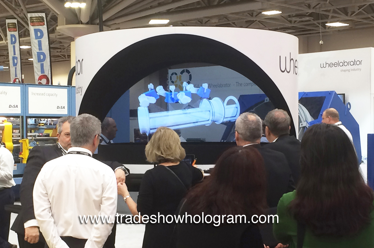 attract attention to trade show booths