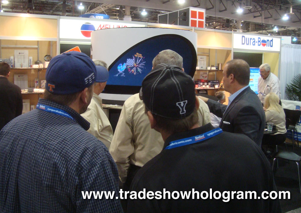 Hologram Projector at trade show.